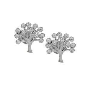 Cercei aur 14k tree