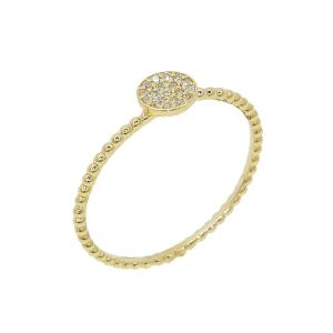 Inel aur 18K cu diamante 0.06 G SI
