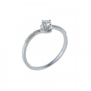 Inel aur 18K cu diamante 0.26 G SI