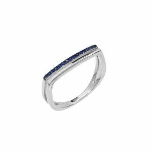 Inel argint cu pietre zirconiu - 581696*