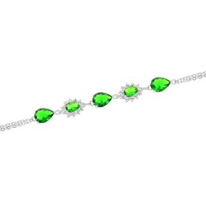 Bratara argint zirconiu edera -  Argint Zirconiu Verde