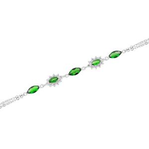 Bratara argint zirconiu elekta -  Argint Zirconiu Verde