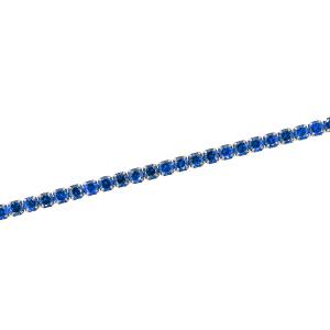 Bratara argint zirconiu tenis -  Argint Zirconiu Albastru