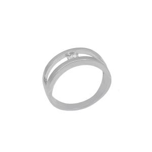 Inel argint zirconiu classico