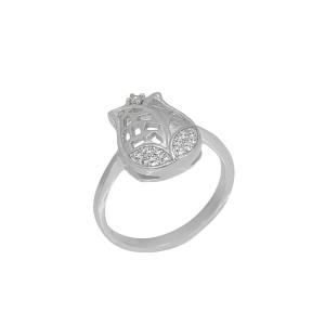 Inel argint zirconiu fleur