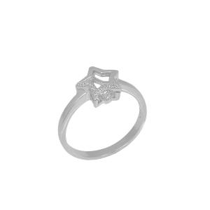 Inel argint zirconiu star