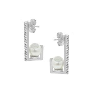 Cercei argint perla