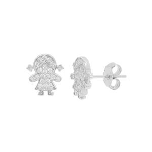 Cercei argint zirconiu girl