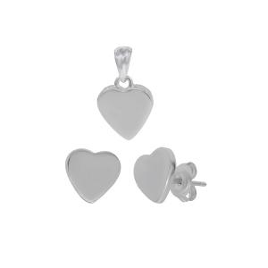 Set argint hearts