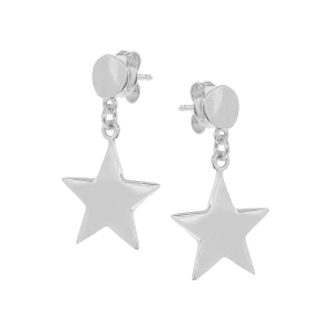 Cercei argint stars