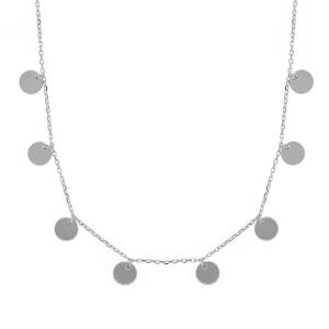 Lant argint geometric