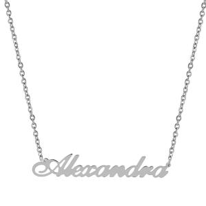 Pandantiv cu lant personalizat Alexandra -