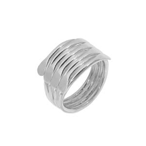 Inel argint vintage geometric