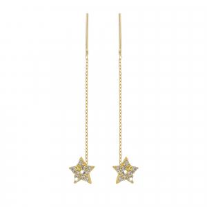 Cercei aur 14K stars