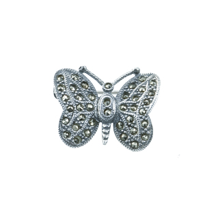 Brosa argint butterfly