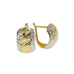 Cercei aur 14K geometrici
