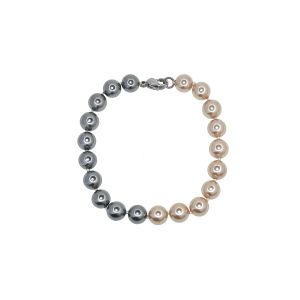 Set perle naturale din scoica colorat 8mm  -  Perle naturale