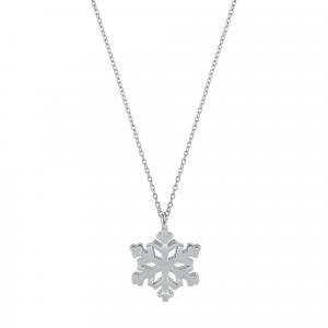 Lant argint snowflake