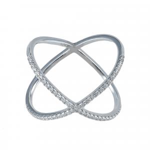 Inel argint zirconiu xavier