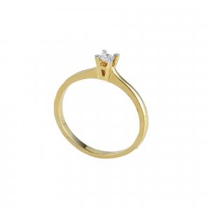 Inel logodna aur 18k cu diamant 0.09 F-G SI