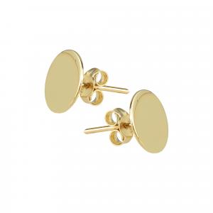 Cercei aur 14K geometra