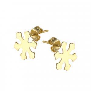 Cercei aur 14K snowflake