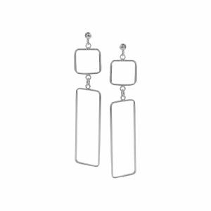 Cercei argint geometrici - 597222*