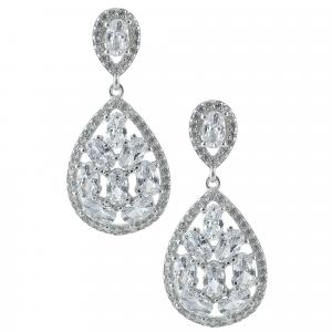 Cercei argint zirconiu chandelier