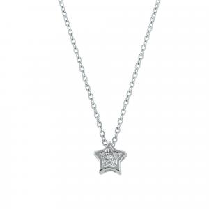 Lant argint zirconiu star