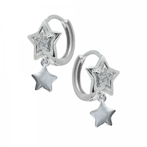 Cercei argint zirconiu star