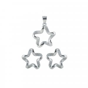Set argint zirconiu twirl