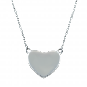 Lant argint heart