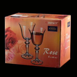Set 6 pahare liquor 60ml crystalite bohemia rose