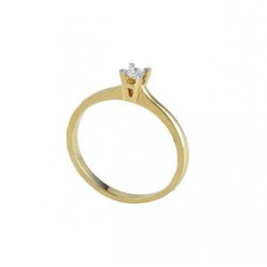 Inel logodna aur 18k cu diamant 0.09 FG SI