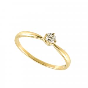 Inel logodna aur 18K cu diamant 0.21 F-G SI