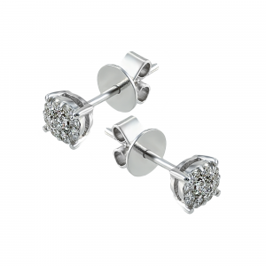 Cercei aur 18K  cu diamante 0.22 G VS