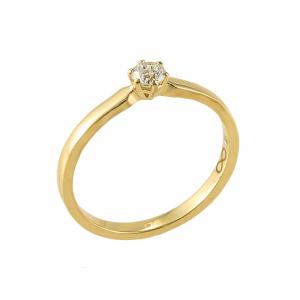 Inel logodna aur 18K cu diamant 0.16 G VS