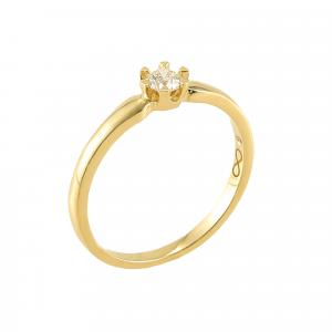 Inel aur 18K cu diamant 0.21 F-G P
