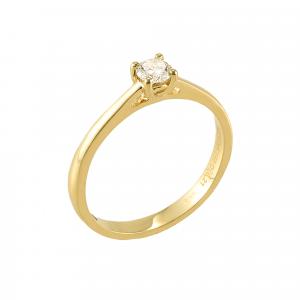 Inel logodna aur 18K cu diamant 0.21 G VS