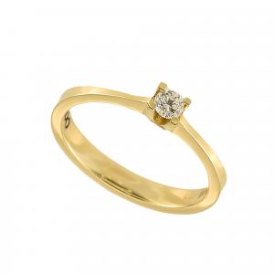 Inel logodna aur 18K cu diamant 0.15 G VS