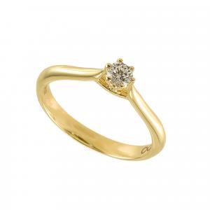 Inel logodna aur 18K cu diamant 0.21 E-F SI