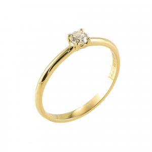 Inel logodna aur 18K cu diamant 0.22 F-G SI