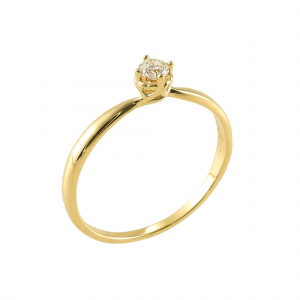 Inel logodna aur 18K cu diamant 0.21 E-F P