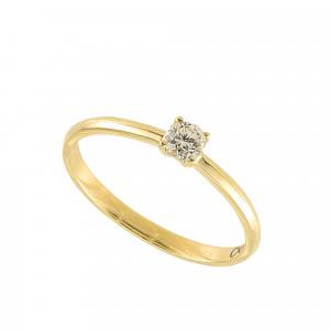 Inel logodna aur 18K cu diamant 0.11 G VS