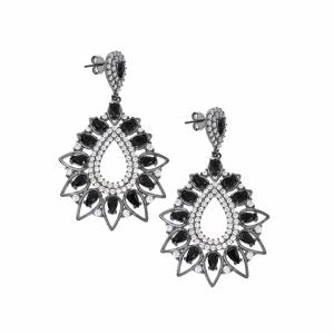 Cercei argint rodiat pietre zirconiu - 602254*