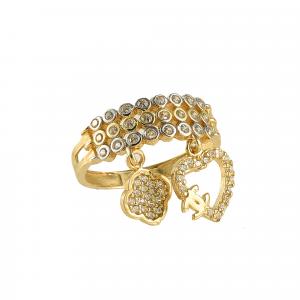 Inel aur 14K charms