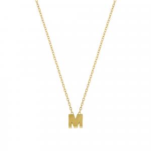 Lant aur 14K cu pandant litera M