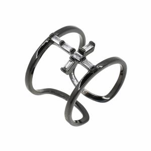 Inel argint rodiat geometric colectia exclusiva - 602032*