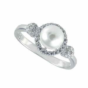 Inel argint mix perla