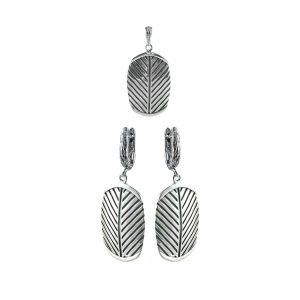 Set argint leaf
